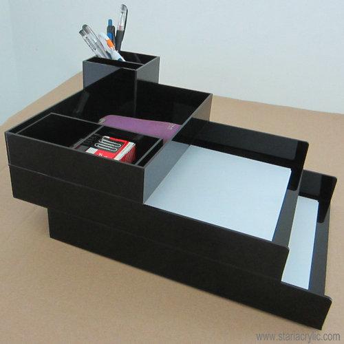 Оптовая продажа с фабрики Desktop черный акриловый Аксессуар лоток