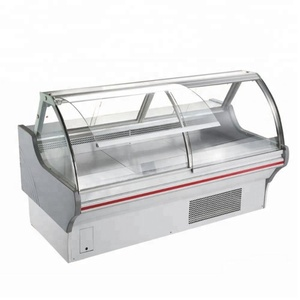 2M Hot selling Commercial used supermarket show case meat refrigerator meat display chiller