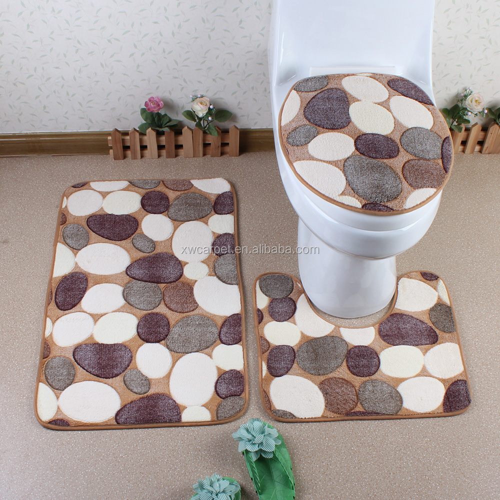 slip bathroom mat sets wholesale cheap bathroom rug set 3pcs bath set