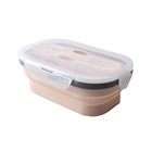 Foldable easy take heat resistance bread box food grade silicone food box accessories portable silicone food containers