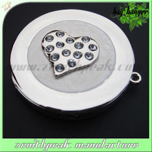 2016 black round stone magnet metal bag hanger,personalized handbag hooks,blank bag hanger