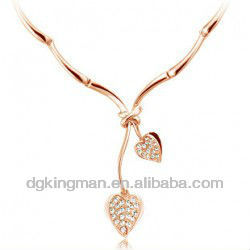 Low Cost Design Diamond Silver Multi Strand Necklace