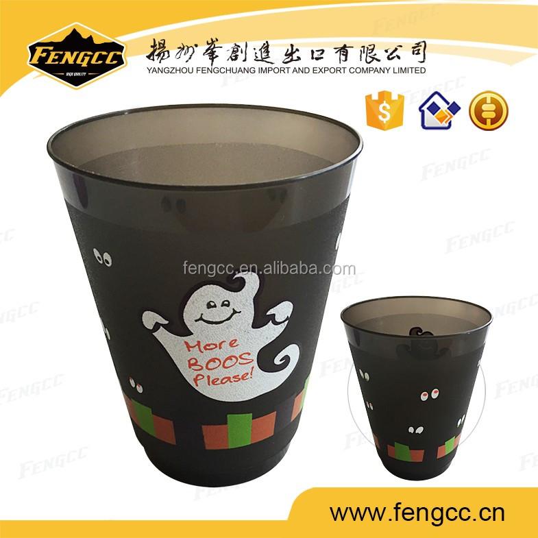 Skull Print Promotion Cheap Plastic Black Coffee Mug Buy