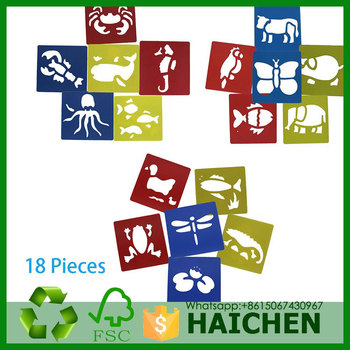 color plastic animals drawing painting stencil templates for kids crafts - Kids Painting Templates