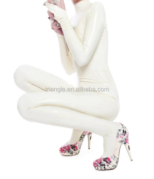 Fast Shipping Dropship China Cheap Hot White Latex Catsuit