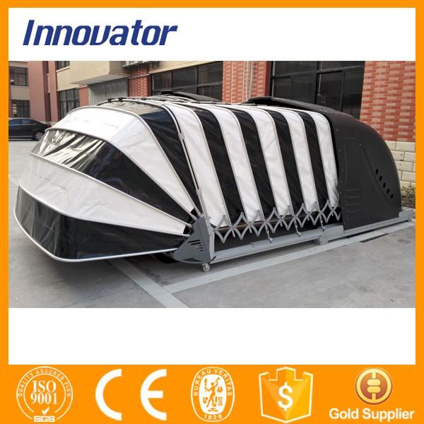 Solar power automatic retractable prefabricated garages for Garage paris 15 auto