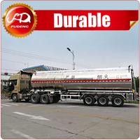 Customized size 3 axles aluminum fuel tanker trailer for sale
