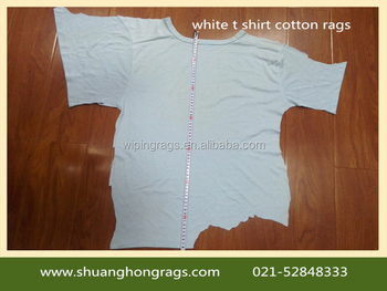 Cheap Price Of 100% Cotton White T Shirts Wiping Rags