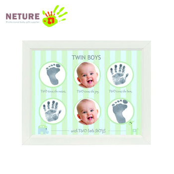 new cute baby twins photo frame diy safe and non toxic inkpad