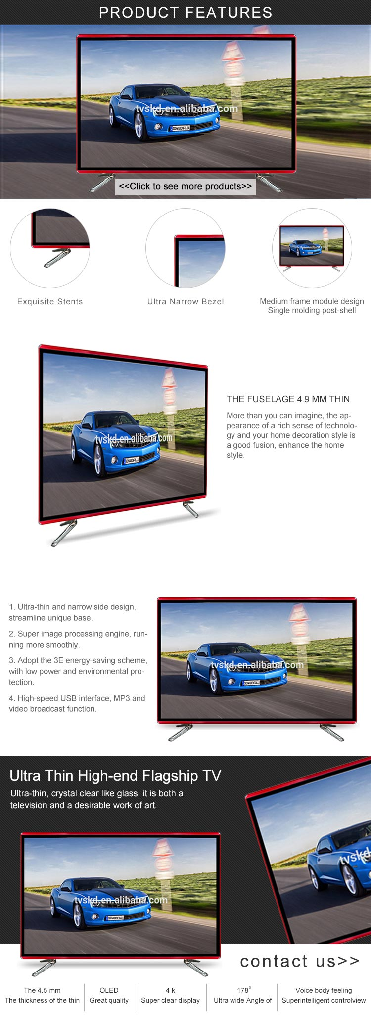 China Television Company Led tv Price In India Big Hd Smart Tv 55 Inch