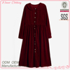 2015 Winter women's clothing garment apparel direct factory OEM/ODM manufacturing leisure wear elegant long sleeve knit dress