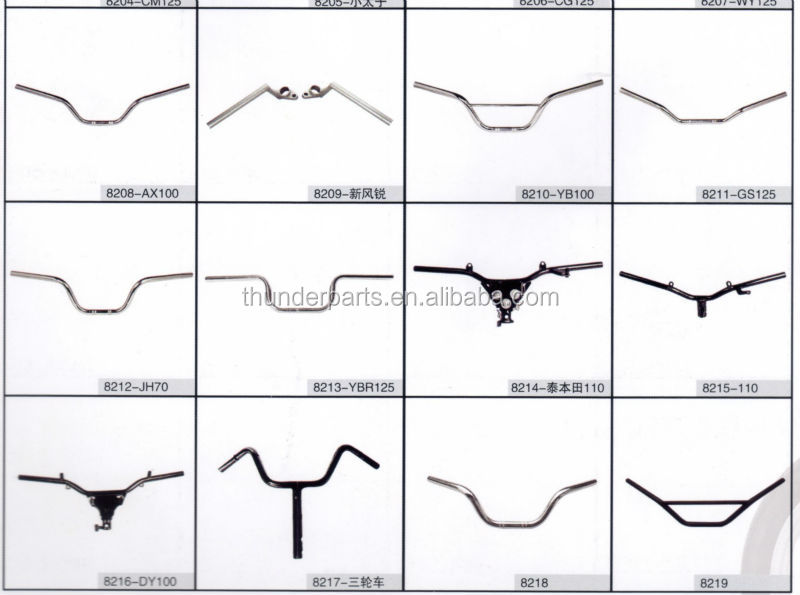 Motorcycle handlebar,hand bar,parts for Zongshen Motorcycles and three wheelers