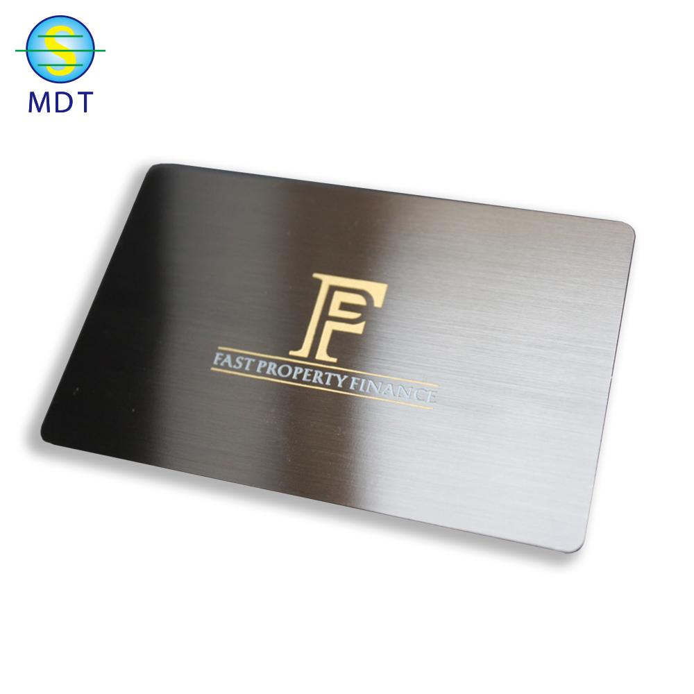 Mdt O gift card custom Metal visiting cards promotion