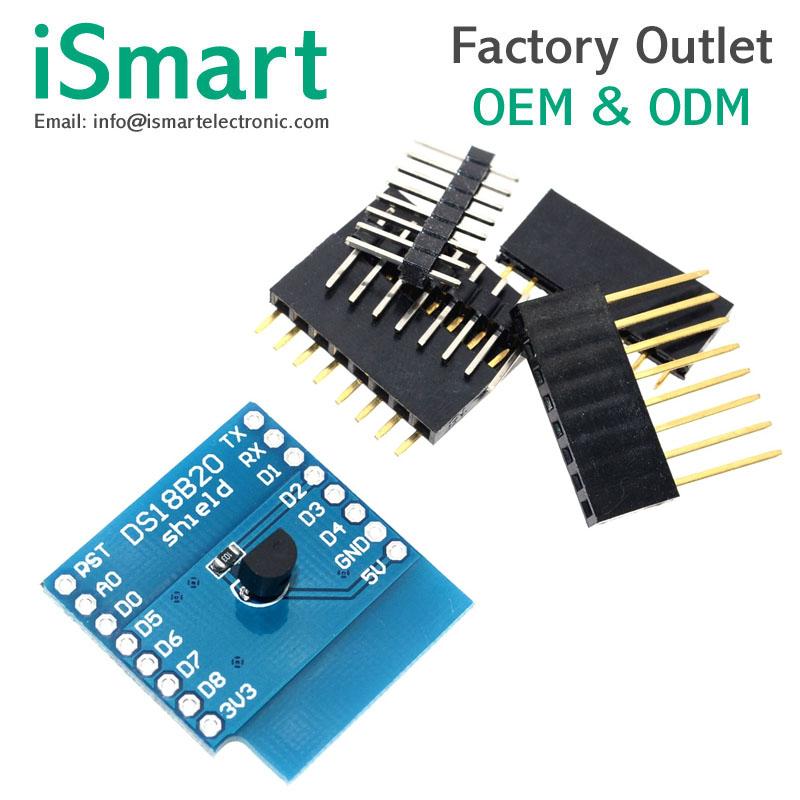 Ds18b20 Temperature Sensor Shield Module For Wemos D1 Mini Wemos D1 Mini  Wifi Extension Board - Buy Temperature Sensor,Extension Board,Ds18b20  Product