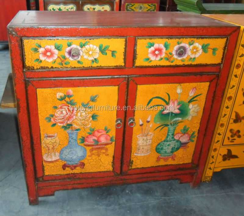 Chinese antique painted small cabinet LWB266