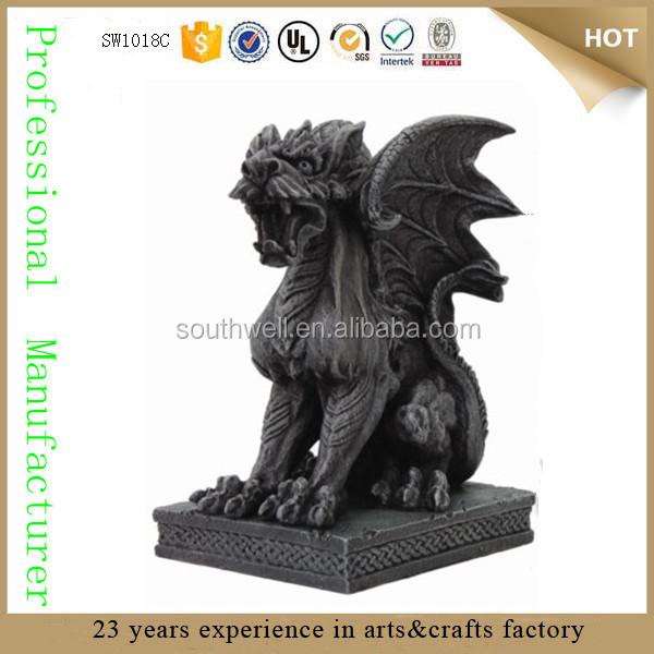 Mythical Fantasy Guardian Dog Lion Winged Figure Beard Medieval ...