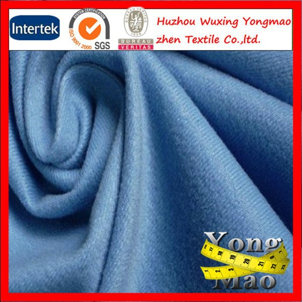 huzhou factory price/polyester loop velvet/ tricot brush