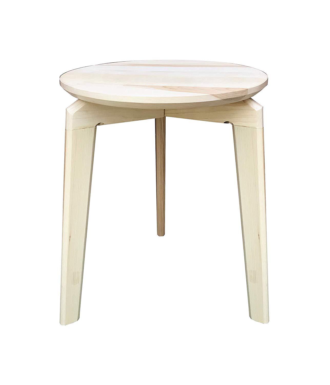 End Table Side Table Modern, Choose Wood, by CW Furniture Maple Oak Walnut Birch Custom Nightstand Solid Hardwood Handmade Minimalist
