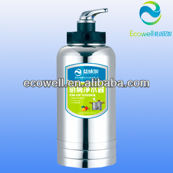 Ecowell remove residual chorine/activated carbon/ KDF/ quartz sand/ EPAN uf membrane household kitchen water purifier