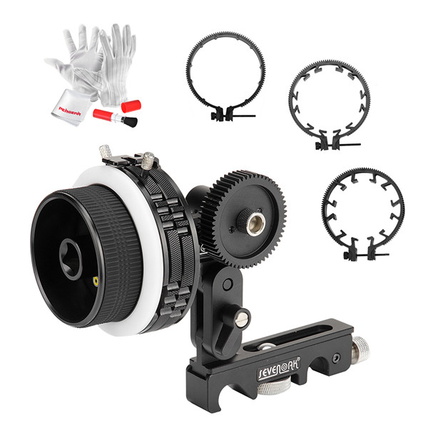 SK-F2X Follow Focus Pro Quick Release Dampen Follow Focus A/B Hard Stop with Gear Ring Belt for DSLR camera A7 A7R