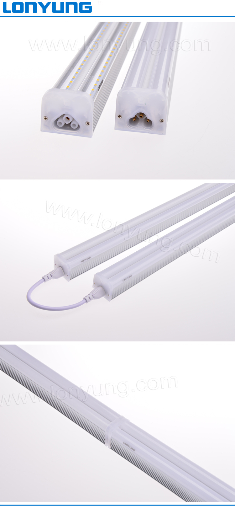 High Power T5 Integrated Led Tube Light Fixture 12m 30w Fluorescent Wiring Diagram Further Replacement Drawing Installation