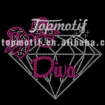 Diamond Diva Bling Iron On Transfers Wholesale - Buy Diva Rhinestone  Applique,Rhinestone Chain,Rhinestone For Dress Product on Alibaba com