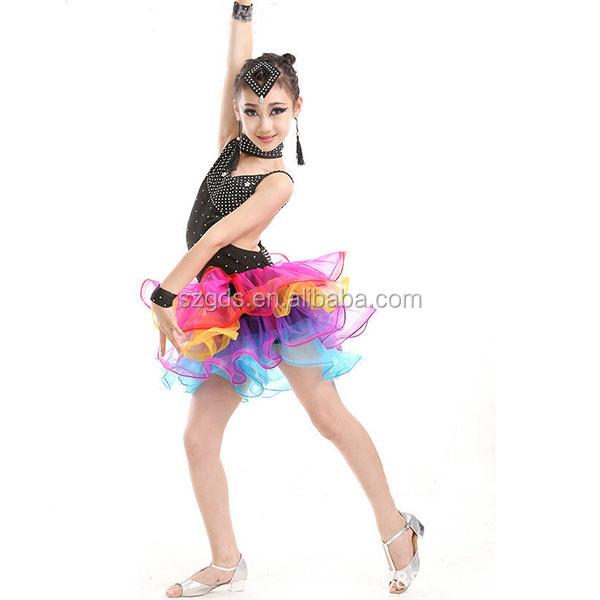 afa1e6cfb81d Luxury good quality Fringe Latin Dress professional latin dance costume  dress kids performance wear