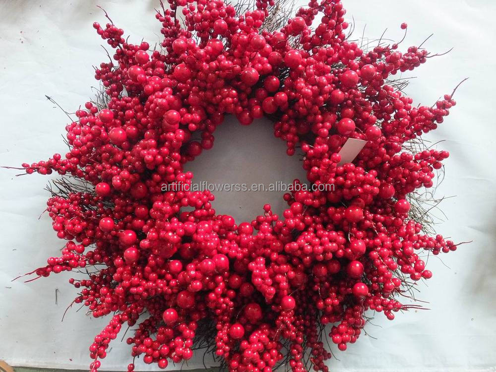 Hot Selling Decorative Christmas Rattan Red Berries Christmas ...