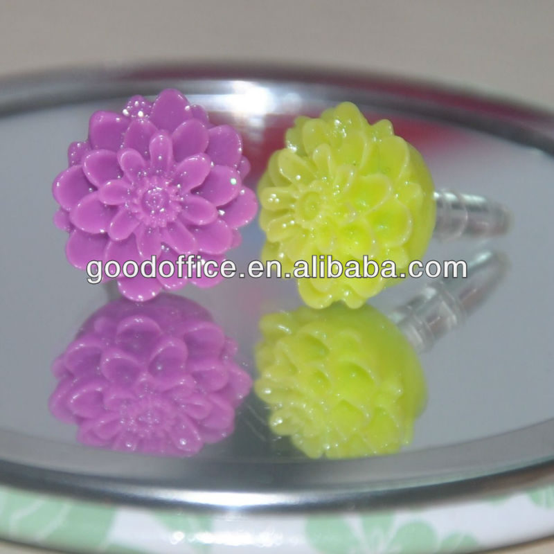 flower design anti dust ear plug for your mobile phone