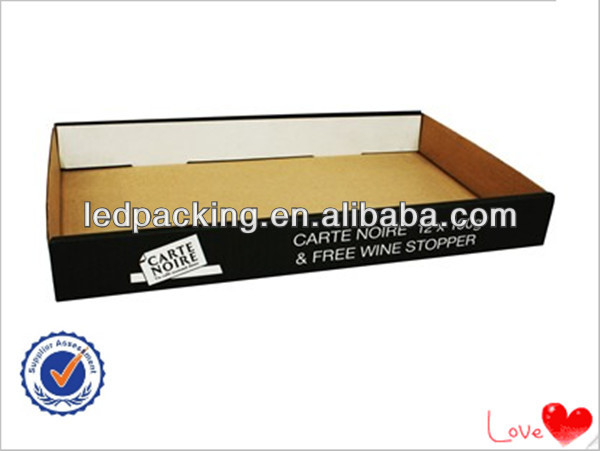 2014 Hot Sales Black Corrugated Carton Box,Corrugated Tray