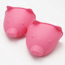 Silicone Glove Grip Oven Pot Holder cheap mini pig head animal silicone oven mitt