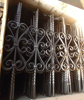Used Wrought Iron Door Gates/interior Wrought Iron Stair Railings/wrought  Iron Window Grill