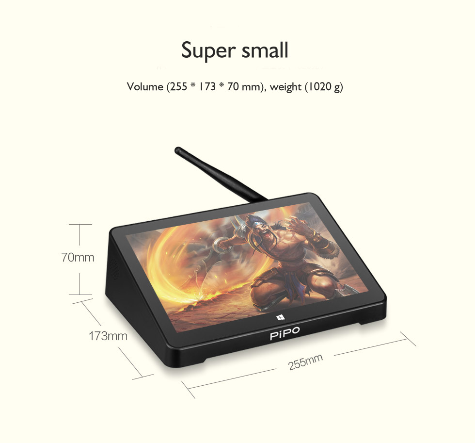 4k android tv box PIPO X12 W x10 4G/64G with BT intel HD Gen8
