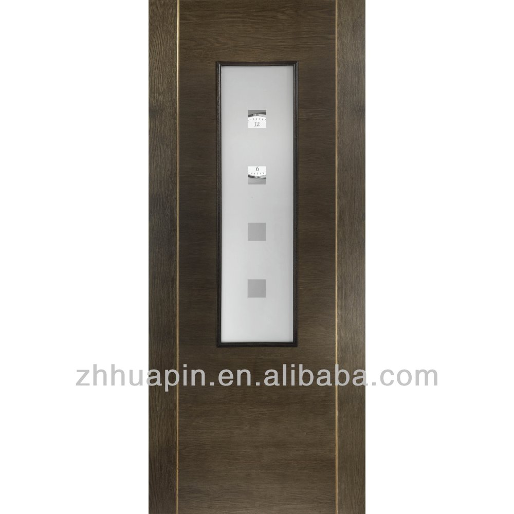veneer wooden flush doors with glass veneer wooden flush doors with glass suppliers and at alibabacom - Bathroom Doors Design