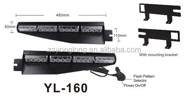 voertuig flashing split led strobe lichten auto interieur light led vizier licht kit voor yl