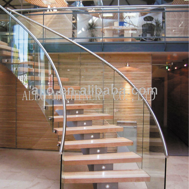 Stainless Steel Black Stair Railing Outdoor Of Forge For Stairs Perforated Metal  Stair Railing