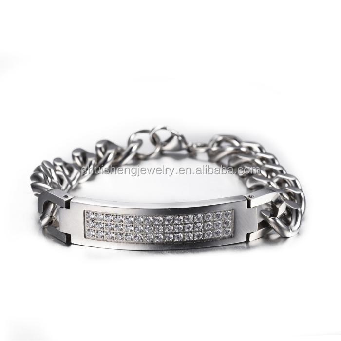 2014 new arrival men silver tanishq diamond bracelet for gift ...