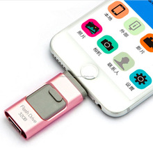 Newest i-Flash iFlash Drive HD U-Disk Micro USB Interface 3 in 1 For Android/iOS/PC/MAC 8/16/32/64GB