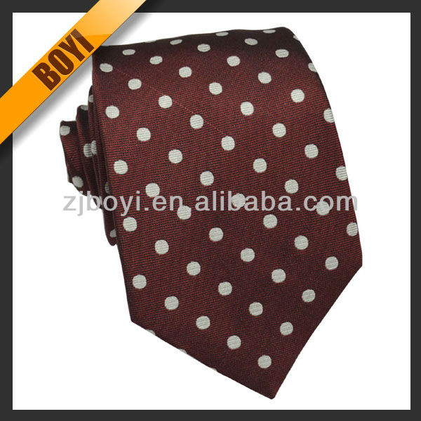Popular Dots Mens Tie Bar Silk Neckwear Ties