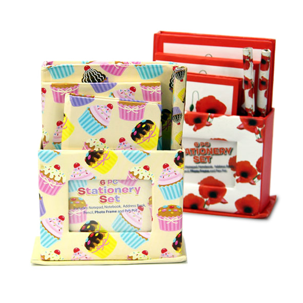 Mini Notebook Stationary Gift Set School Kids With Pencil , Stationary Set