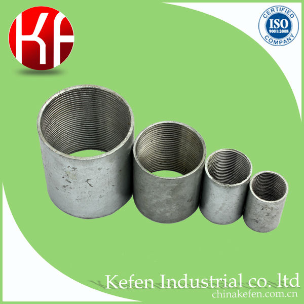 high quality galvanized full/half NPT threaded steel expansion coupling