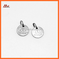 metal charms with ring silver metal tag charms