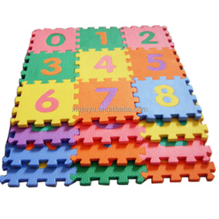 EVA Foam Interlocking Mats Lowercase 36 Sq. Ft. Alphabet And Number Floor  Puzzle Mat