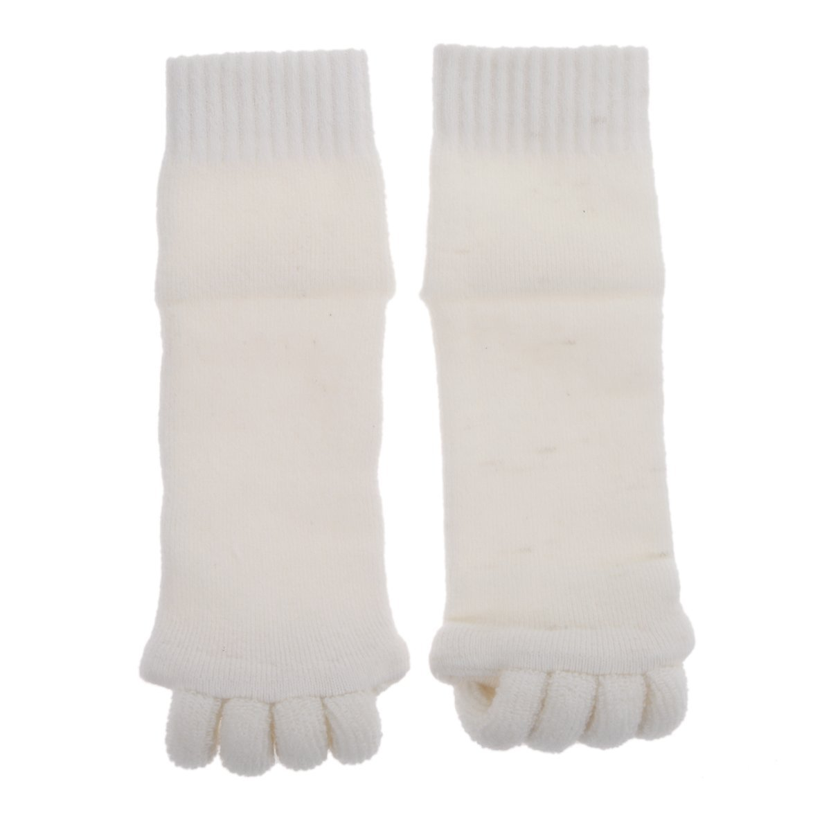 b36b9fa5686 Easydeal 1 Pair Yoga GYM Massage Five Toe Separator Socks Foot Alignment  Pain Relief(White