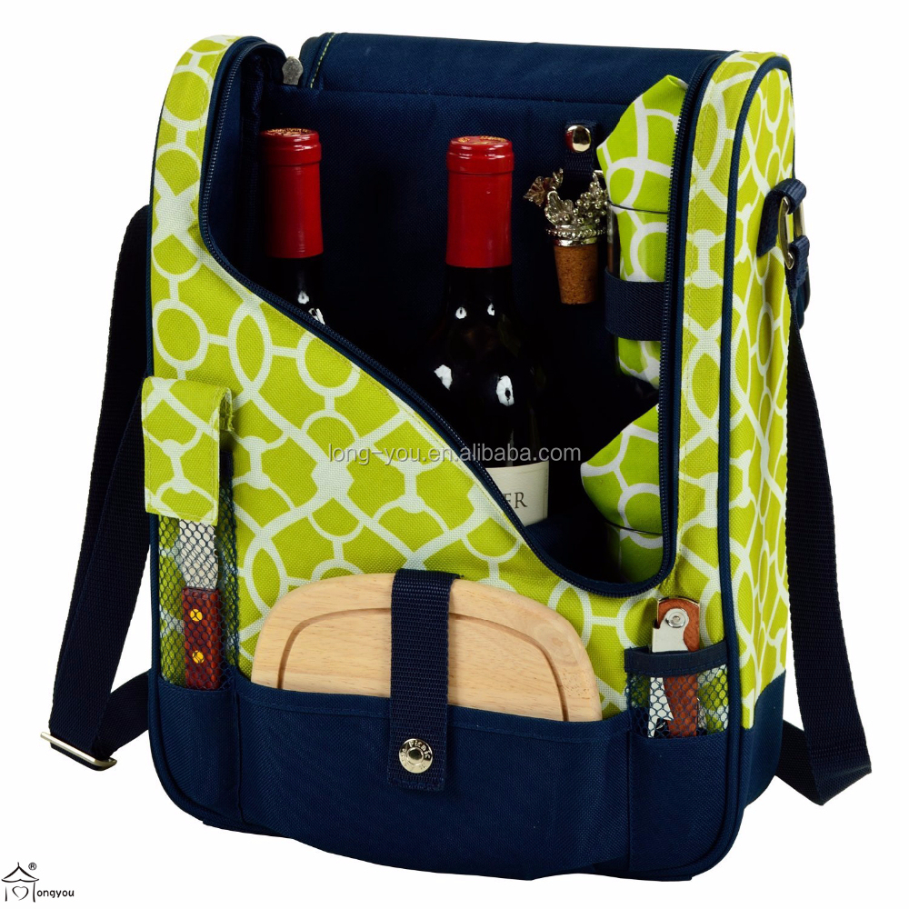 Picnic Bag Wine and Cheese Cooler for 2 Persons
