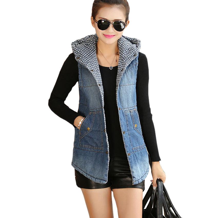 Compra Chaleco de mezclilla con capucha chaqueta online al