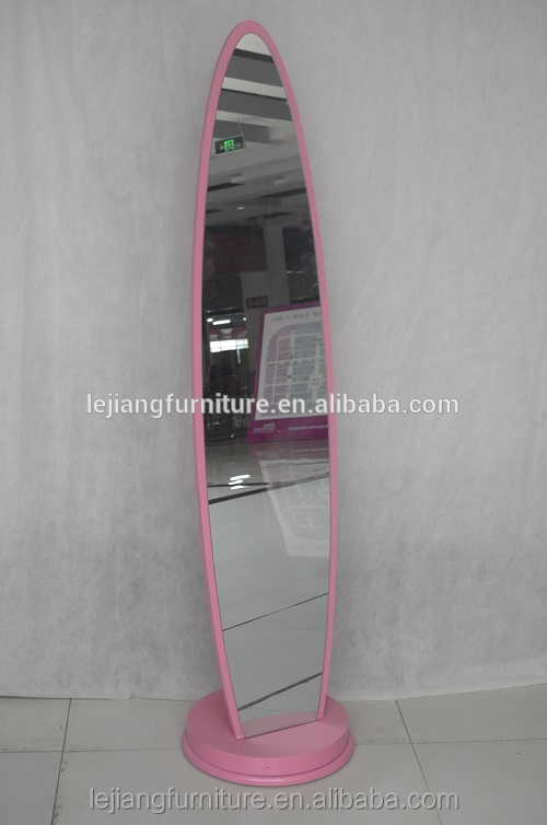 magic colourful oval shape dressing mirror MDF frame