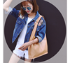 Pure color big casual shopping bag newest pictures lady fashion handbag(SWTJU1865)