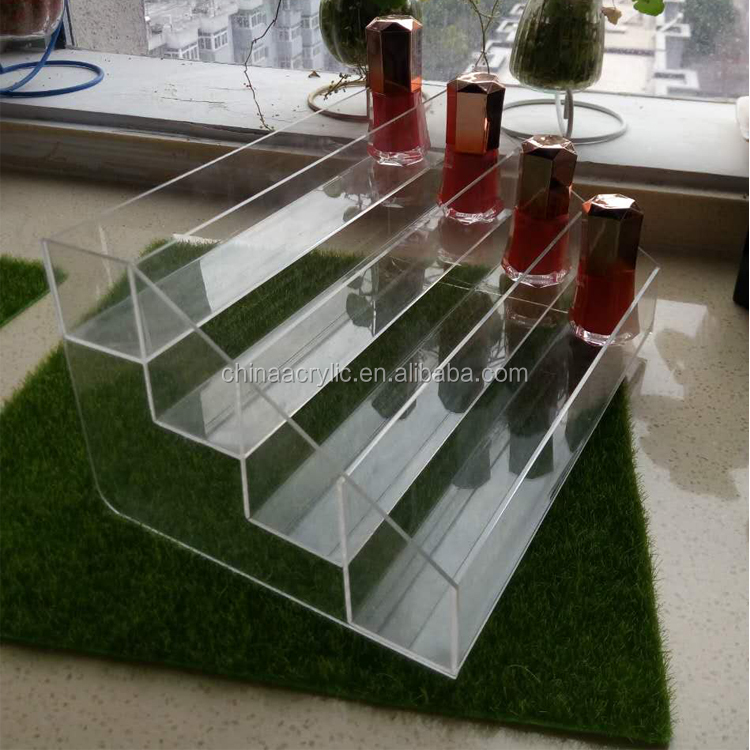 Modern 5 Step Counter Display Acrylic Nail Polish Bottle Holder
