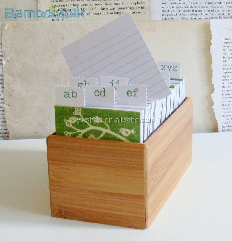 Bamboo Office Notes Storage Box / Bamboo A4 File Folder / Small ...